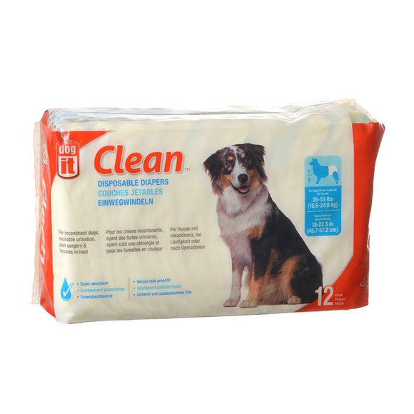 Dog It Clean Disposable Diapers (70505)