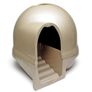 Booda Dome Cleanstep Litter Box Titanium Color Large