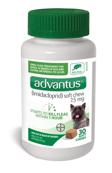 Advantus Advantus Soft Chews 7.5 mg for Small to Medium Dog 30 Count