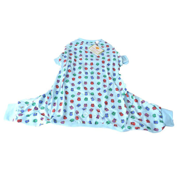 Lookin Good Owl Print Dog Pajamas - Blue (200336)