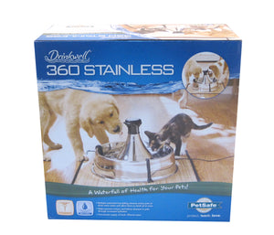 PetSafe Drinkwell 360 Stainless Multi-Pet Pet Fountain for Cat & Dog