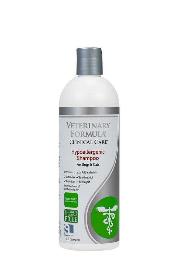 Synergy Labs Veterinary Formula Clinical Care Hypoallergenic Shampoo for Cat & Dog 16 Oz