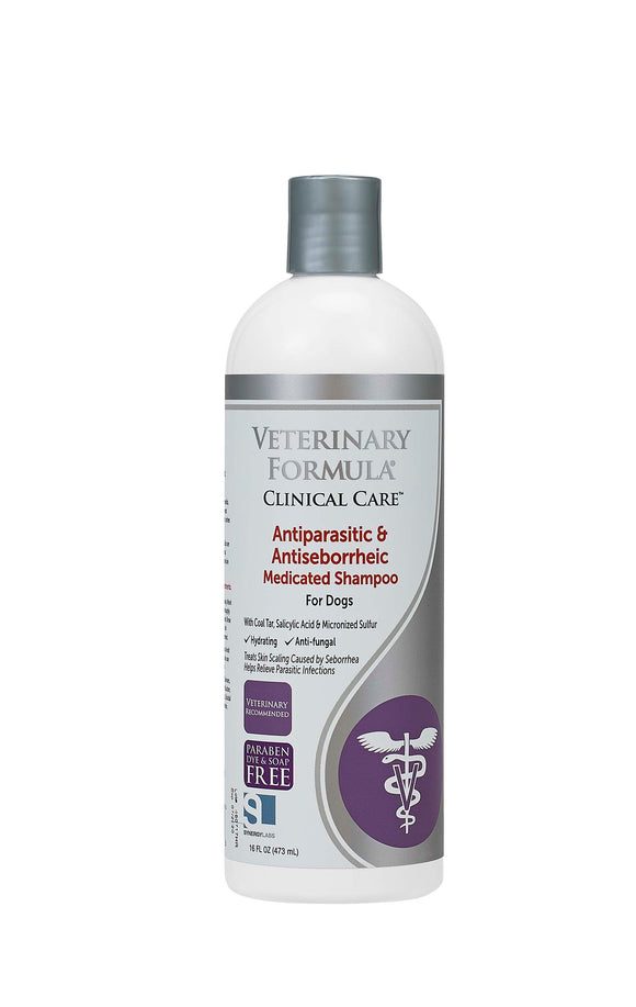 Synergy Labs Veterinary Formula Clinical Care Antiparasitic & Antiseborrheic Medicated Shampoo for Dog 16 Oz