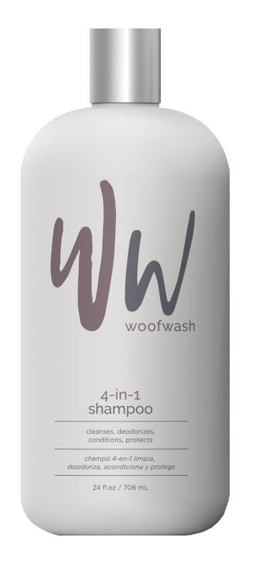 Synergy Labs Woof Wash 4-in-1 Shampoo for Pets 24 Oz