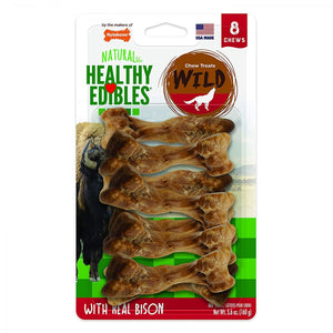 Nylabone Natural Healthy Edibles Wild Bison Chew Treats (NEB201VP8P)