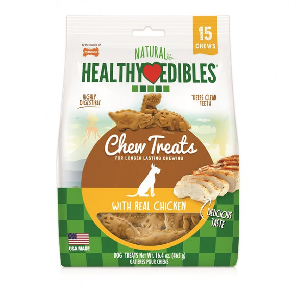 Nylabone Natural Healthy Edibles Chew Treats with Real Chicken (NEDD100M15P)