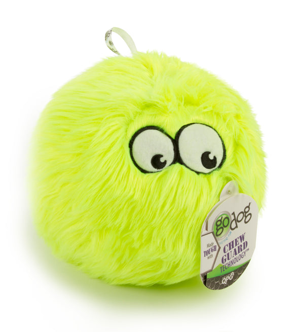 GoDog Lime FurBallz Dog Toys Medium