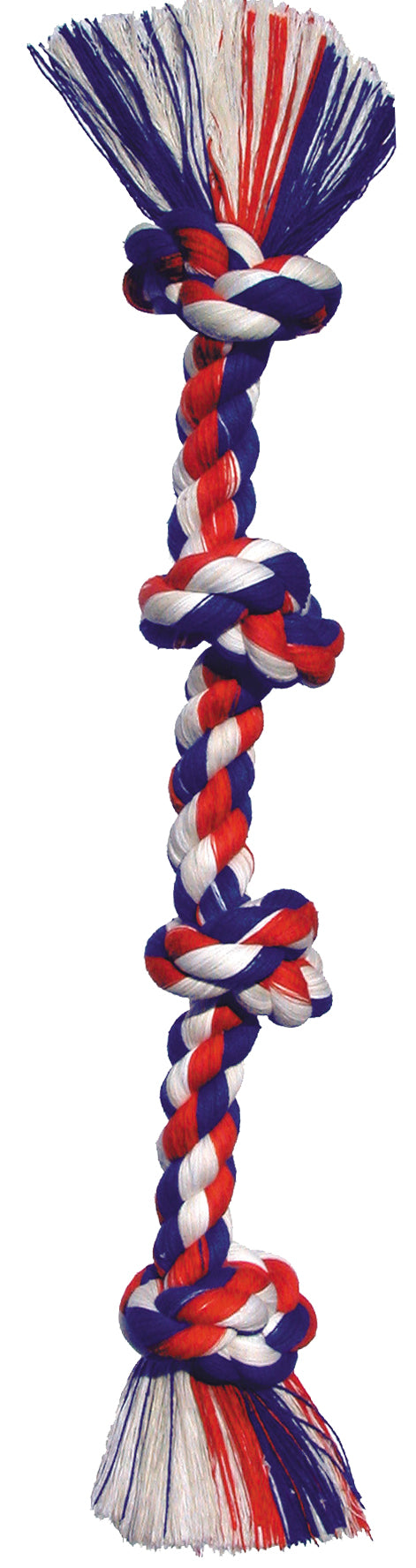 Mammoth Flossy Chews 4 knot Tugs Color Rope Large Dog Toys 27 Inch