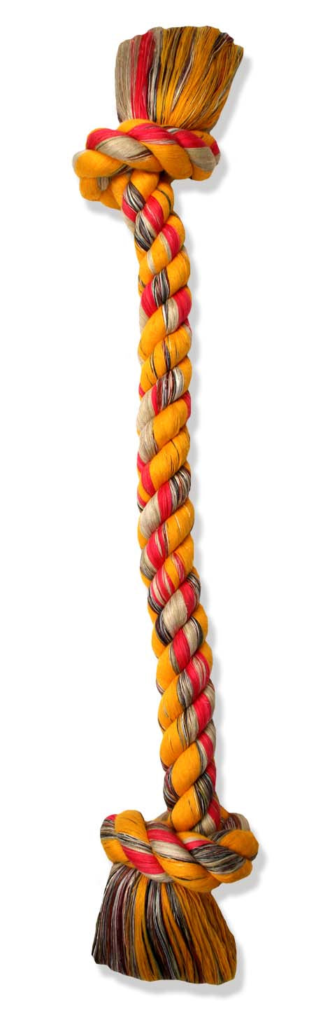 Mammoth Flossy Chews 5 knot Tugs Color Rope Dog Toys 48 Inch