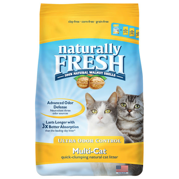 Naturally Fresh Ultra Odor Control Multi-Cat Quick-Clumping Formula Cat Litter 14 Lbs