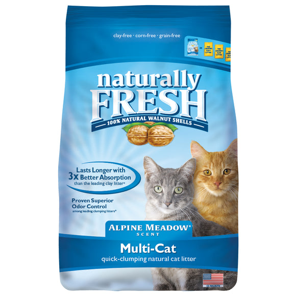 Naturally Fresh Alpine Meadow Scented Multi-Cat Quick-Clumping Formula Cat Litter 26 Lbs