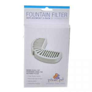 Pioneer Replacement Filters for Stainless Steel and Ceramic Fountains (3002)