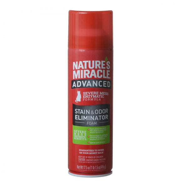 Nature's Miracle Just for Cats Advanced Enzymatic Stain & Odor Eliminator Foam (P-96947)