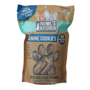 Howl's Kitchen Canine Cookies Skin & Coat Formula - Lamb & Blueberry Flavor (AT314)
