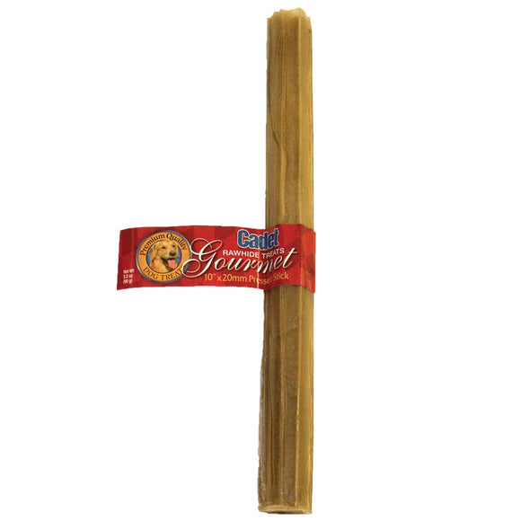 Cadet Pressed Rawhide Stick Dog Treats 10 Inch X 20 MM