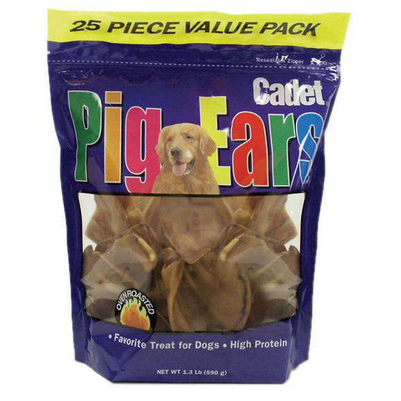 Cadet Pig Ears Dog Treats 25 Count