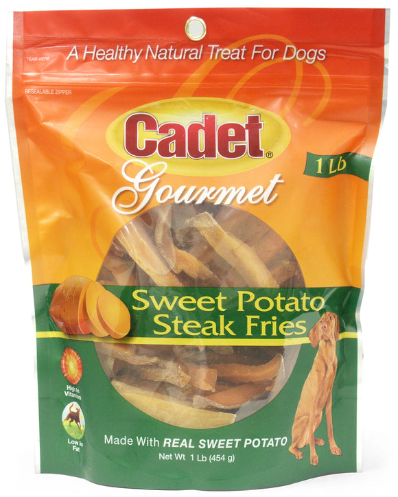 Cadet Sweet Potato Steak Fries Dog Treats 1 Lbs