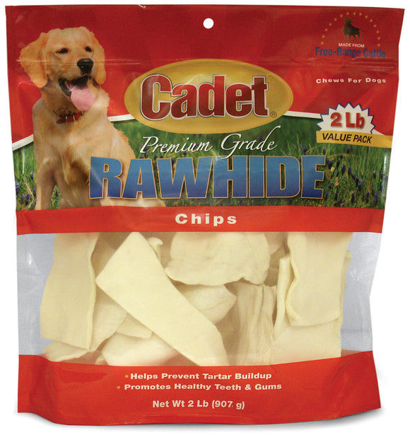 Cadet Premium Rawhide Chips Dog Treats 2 Lbs