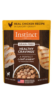 Instinct Healthy Cravings Grain Free Real Chicken Recipe in Savory Gravy Dog food 3 Oz