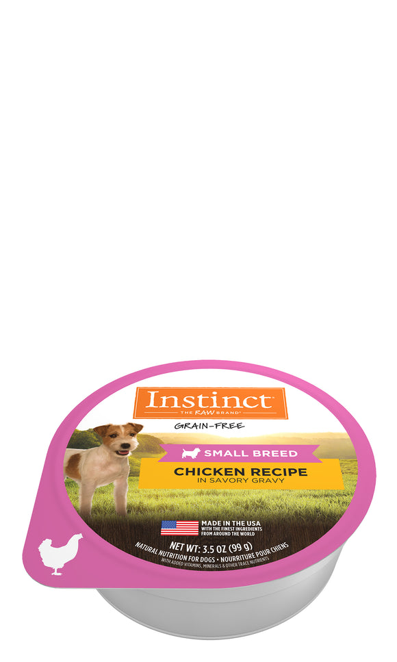 Instinct Grain Free Chicken Recipe in Savory Gravy Small Breed Dog Food 3.5 Oz