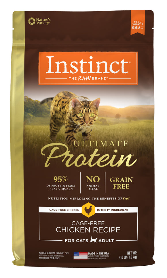 Instinct Ultimate Protein Grain Free Cage-Free Chicken Recipe Cat Food 4 Lbs