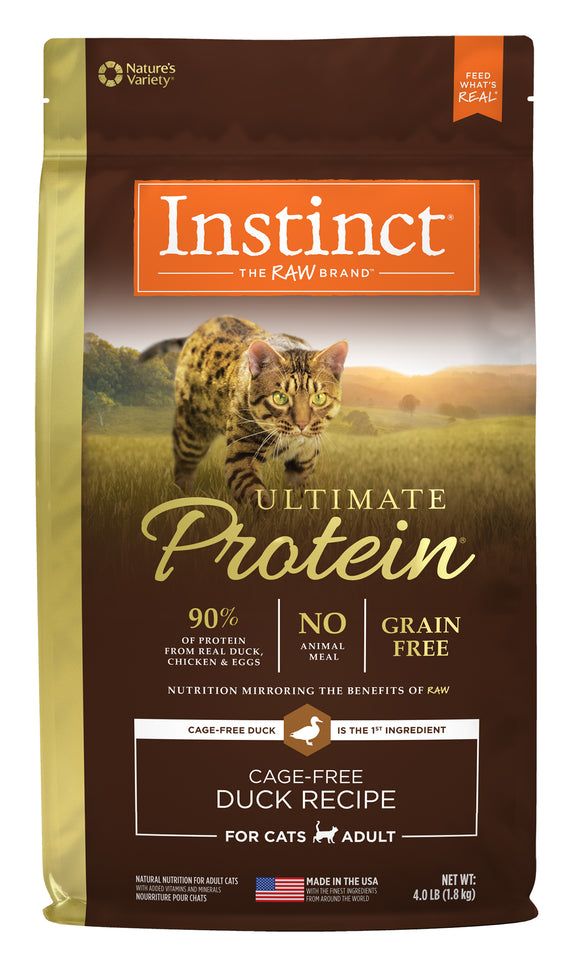 Instinct Ultimate Protein Grain Free Cage-Free Duck Recipe Cat Food 4 Lbs
