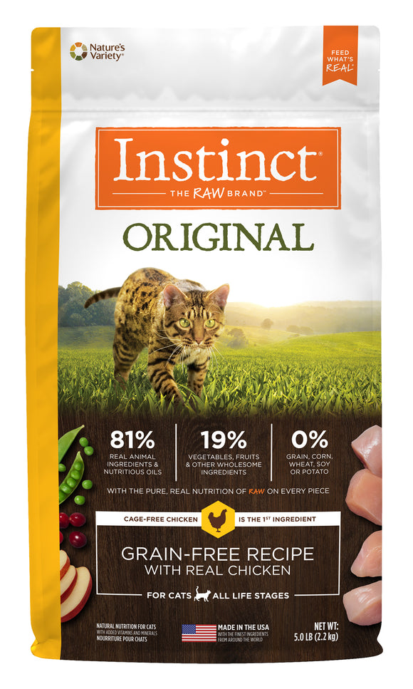 Instinct Original Grain Free Recipe with Real Chicken Cat Food 5 Lbs