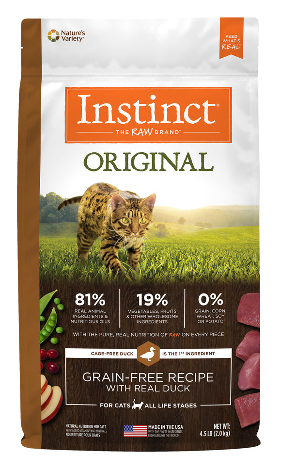 Instinct Original Grain Free Recipe with Real Duck Cat Food 10 Lbs