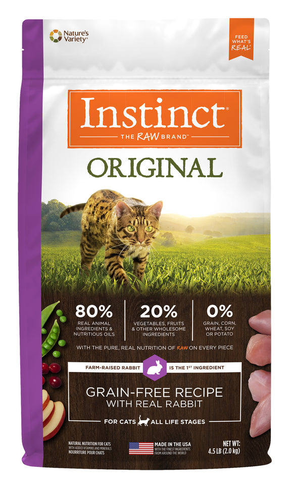 Instinct Original Grain Free Recipe with Real Rabbit Cat Food 4.5 Lbs