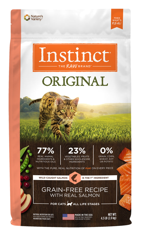 Instinct Original Grain Free Recipe with Real Salmon Cat Food 4.5 Lbs