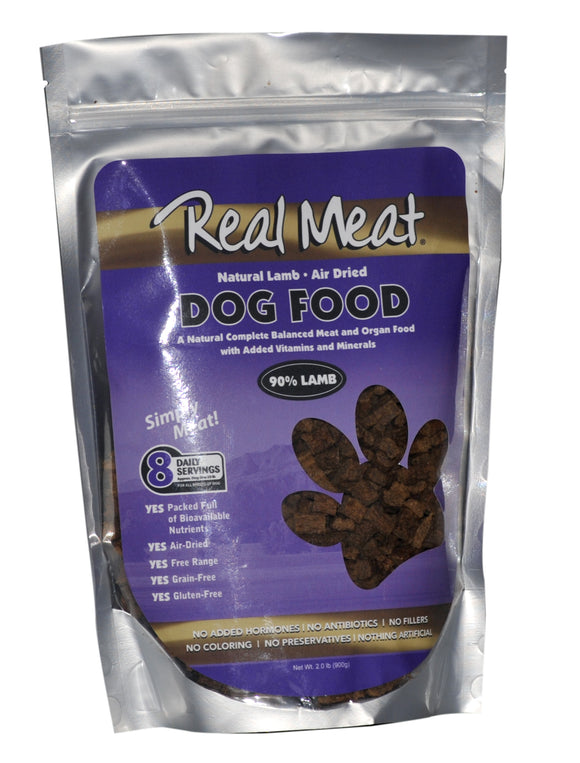 Real Meat Air-Dried Lamb Dog Food 2 Lbs