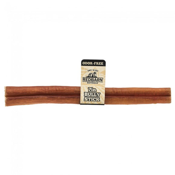 Redbarn Odor-Free Bully Stick Chewy Dog Treat 7 Inch