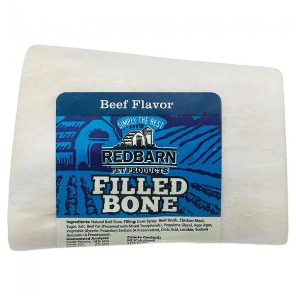 Redbarn Beef Filled Bone Chewy Dog Treat Small