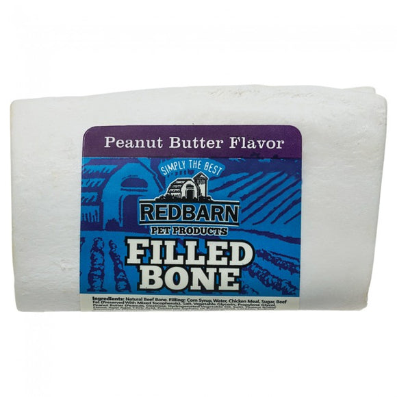 Redbarn Peanut Butter Filled Bone Chewy Dog Treat Small