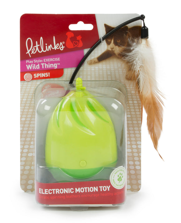Petlinks Wild Thing Electronic Motion Cat Toys Green Color 4 Inch Diameter