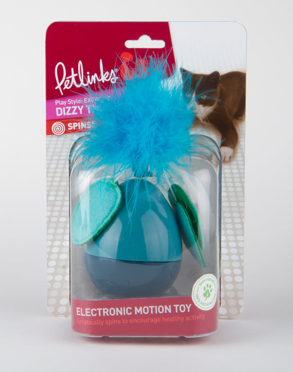 Petlinks System Dizzy Thing Electronic Motion Cat Toys Blue Color