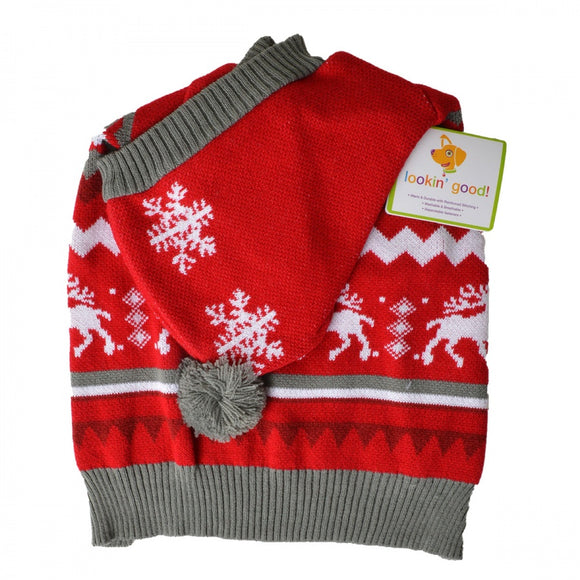 Lookin Good Holiday Dog Sweater - Red (104025)