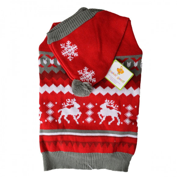 Lookin Good Holiday Dog Sweater - Red (104026)