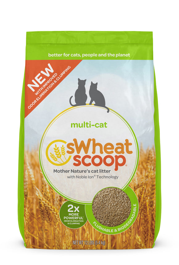 sWheat Scoop Multi-Cat Mother Nature's Cat Litter 12 Lbs