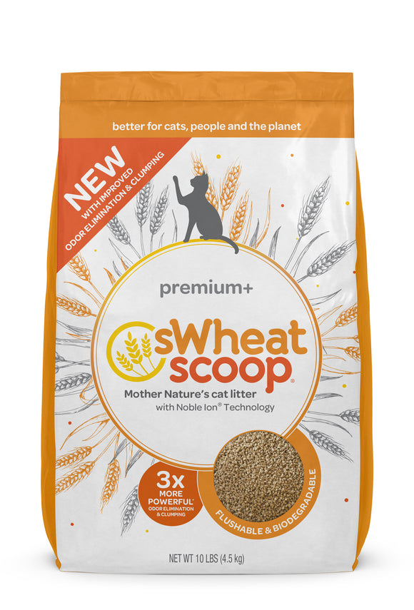 sWheat Scoop Premium+ Mother Nature's Cat Litter 10 Lbs