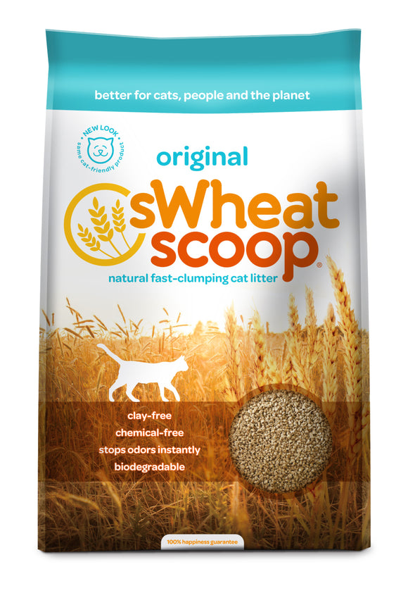 sWheat Scoop Fast-Clumping Mother Nature's Cat Litter 36 Lbs