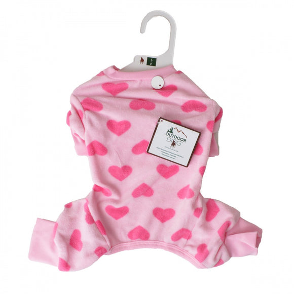 Lookin Good Heart Fleece Dog Pajamas - Pink (250344)