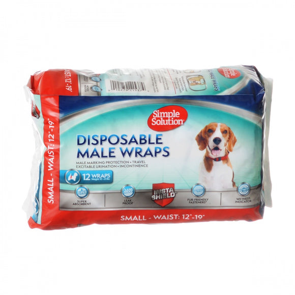Simple Solution Disposable Male Wraps - Small (11537)