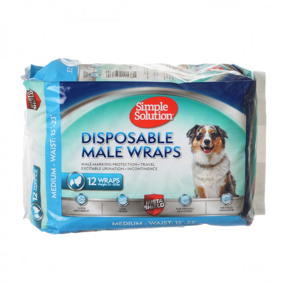 Simple Solution Disposable Male Wraps - Medium (11538)