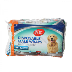 Simple Solution Disposable Male Wraps - Large (11539)