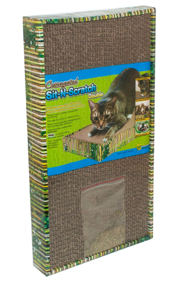 Ware Double Sit-N-Scratch for Cat 18.25 X 10 X 2 Inch