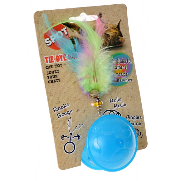 Spot Tie Dye Roller Ball Cat Toy - Assorted Colors (52046)