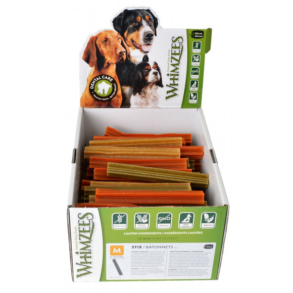 Whimzees Natural Dental Care Stix Dog Treats (WHZ217US)