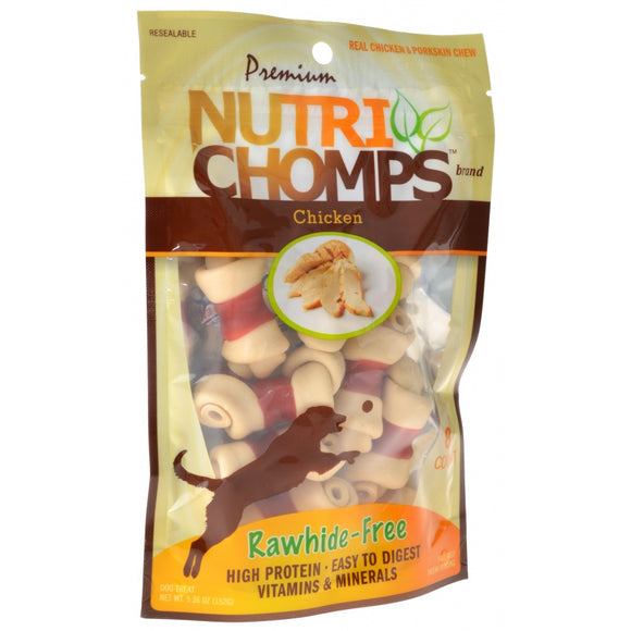 Premium Nutri Chomps Chicken Wrapped Knots (NT004)