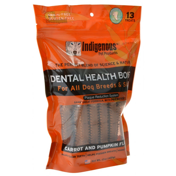 Indigenous Dental Health Bones - Carrot & Pumpkin Flavor (1721C)